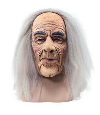 Creepy viejo # Máscara Con Cabello Adulto Accesorio De Halloween Vestido de fantasía