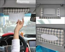 Elegant Leather Car Sun Visor Tissue Paper Holder Dispenser Box