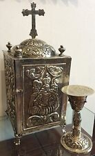 beautiful tabernacle and chalice Silver  style colonial Peru