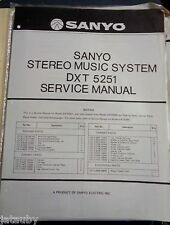 SANYO Vintage Original Stereo Music System DXT 5251 Service Manual + Revision