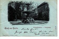 Gruss aus Berlin AK 1897 Wrangelbrunnen Tiergarten Berlin 1502418