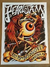 Pearl Jam 10/15/13 Worcester, MA Limited Edition Concert Poster by Heart Print