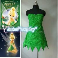 Tinker Bell Cosplay Tinkerbell Dress Green Fairy Pixie cosplay costume