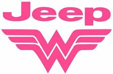 WONDER WOMAN JEEP Car Truck Vinyl Decal Sticker JEEP GIRL WOMAN LADY (10 COLORS)