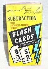 Vintage Subtraction Flash Cards Gelles-Widmer Co. 1958 in Original Box