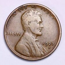 1927-S Lincoln Wheat Cent Penny LOWEST PRICES ON THE BAY!  FREE SHIPPING!