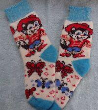 Knitted wool women socks thick warm winter Kot V Sapogah red blue white 6-7