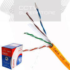 CAT6 1000FT UTP SOLID 23 AWG NETWORK ETHERNET CABLE BULK WIRE 550MHz LAN ORANGE