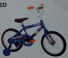 "HUFFY~UPROAR 2~RACING GRAPHIC~KID BOYS~16""BIKE~TRNG WHEEL BICYCLE+LIGHT PAD BELL"