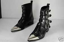 SUPPER BEAUTIFUL!!! DIESEL BLACK GOLD ATENA BUCKLED/BELTED  BOOTS EU 39 US 8.5