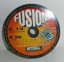 Bobine de tresse Mitchell Fusion 0,18mm 6.000kg 100m vert foncé