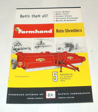 VINTAGE FARMHAND DAFFIN CORPORATION ROTO-SHREDDERS BROCHURE EPHEMERA