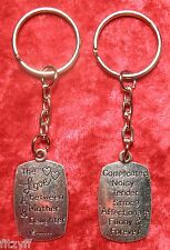 The Love Between a Mother and Daughter Is Forever Keyring Family Key Ring