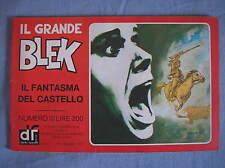 IL GRANDE BLEK 10 1977 IL FANTASMA DEL CASTELLO EDIZIONI DARDO STRISCIA GIGANTE