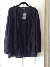 chelsea muse christopher fink chiffon blouse shirt medium nwt black