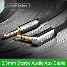 Ugreen 50cm 3.5mm Audio Cable 90 Degree Right Angle Flat Jack For Car iPhone MP3