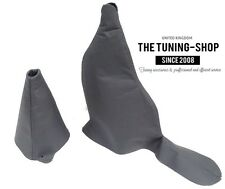 FOR ROVER 75 MG ZT ZT-T MANUAL 99-05 GEAR HANDBRAKE GAITER CHARCOAL LEATHER