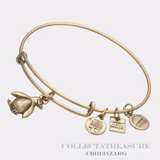 Authentic Alex and Ani Asso. of Zoos and Aquariums Penguin Gold Charm Bangle CBD