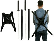 Deadpool Katana Set Carbon Steel Swords Dual Backstrap Movie Superhuman Mutant