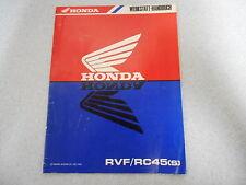 Werkstatthandbuch - Nachtrag Honda RVF / RC 45 (S)