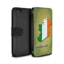 PU Leather Case/Cover/Wallet for Apple iPhone 4/4S/Flag Nations/Ireland/Irish