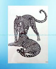 """US Seller- Leopard animal lover 8.25""""extra large temporary arm tattoo Adults"""