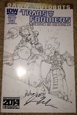 Botcon 2014 Transformers Robots In Disguise #30 Comic Variant Signed Barber
