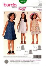 Burda Pattern 9420 Childs Dress EUR 92-122 US 2-7