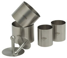 Kuchenprofi Stainless Steel 6-Piece Forming Rings with Tamper/Pusher