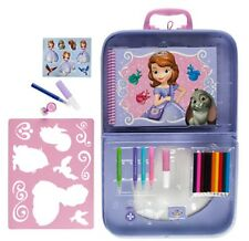 Disney Sofia the First Stencil Drawing Coloring Art Set w/Storage Carrying Case
