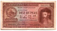 FULL COLOR FULL SZ REPRINT (Cópia) RARE PORTUGUESE INDIA BILL Conquistador/Ships