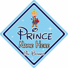 Personalised Disney Prince On Board Car Sign – Baby On Board Car Sign