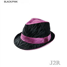 Leopard Printed Faux Fur Pattern Polyester Color Band Fedora Adjustable JRJ068