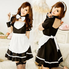 Sexy Halloween French Maid Outfit Costume Fancy Dress Women Girl Waiter Party