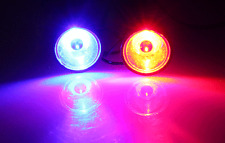 LED Round light RED and Blue Color 12V-48V DC for Motorcycle Warning