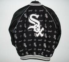 SIZE L MLB CHICAGO WHITE SOX Wool LEATHER REVERSIBLE JACKET JH DESIGN L
