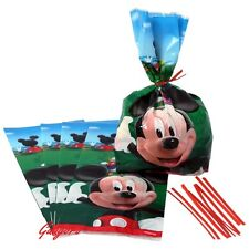 Lot of 16 Mickey Mouse Favor Goody Bags Treat sacks Birthday Party Supplies Box