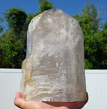 Smoky Elestial Giant Clear Skeletal Quartz Crystal Point 6 Enhydro Water Bubbles