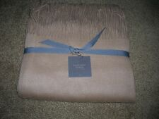 Restoration Hardware 100% CASHMERE THROW CAMEL COLOR 50x70 NEW w/TAGS