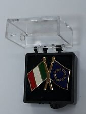 DISTINTIVO METALLO BANDIERA ITALIA EUROPA SPILLA REPUBBLICA ITALIANA PINS REGALO
