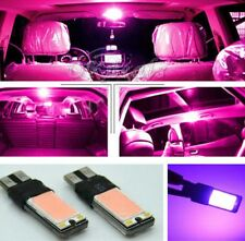 Fog Light Interior Bulb Purple Pink DC 12V Parking Backup Lamp T10 COB W5W LED