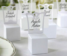 50x Beautful White Chair Wedding Party Gift Favour Boxes and Place Name Cards