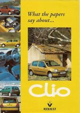 Renault Clio Press Reviews 1998 UK Market Foldout Sales Brochure