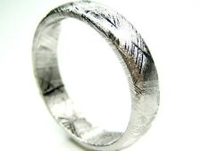 Sz 8 Q GIBEON IRON NICKEL METEORITE 5.5MM WEDDING BAND RING