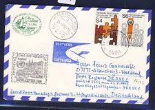 51939) LH FF Hamburg-Jersey 23.5.92, mapa a partir de onu Viena spa Koblenz