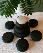 Pietre hot stone lavorate circolari .Basalt hot stone Etna