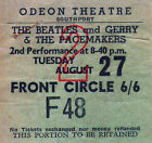 THE BEATLES REPRO 1963 SOUTHPORT ODEON THEATRE 27 AUGUST CONCERT TICKET
