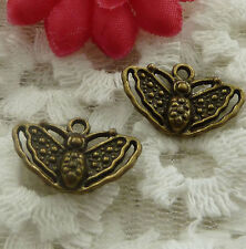 free ship 70 pieces bronze plated butterfly charms 19x12mm#2317