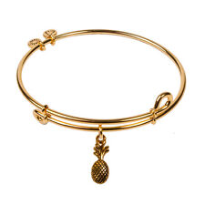 Authentic SOL 240091 - Signs of Life - Pineapple, Bangle 18K Gold Plated