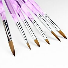6Pcs Acrylic Drawing Large Nail Art Manicure Brushes for Painting 3D Mold DIY